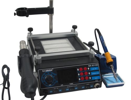 SAIKE 8310D BGA Rework Station Hot air gun soldering station with Preheat plate